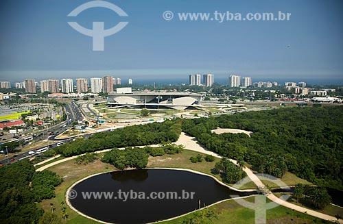 Assunto: Vista áerea do Bosque da Barra (Parque Arruda Câmara) ao fundo Cidade da Música / Local: Barra da Tijuca - Rio de Janeiro - RJ - Brasil / Data: 03/2011