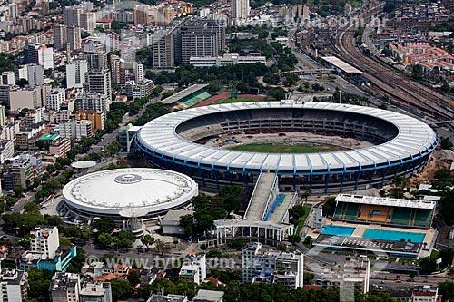 Assunto: Vista aérea do Estádio Jornalista Mário Filho (Maracanã) - em obras preparatórias da Copa do Mundo de 2014  / Local: Rio de Janeiro (RJ) - Brasil / Data: 03/2011