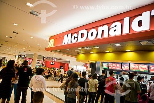 Assunto: Praça de alimentação no Raposo Shopping / Local: São Paulo (SP) - Brasil / Data: 3/2011