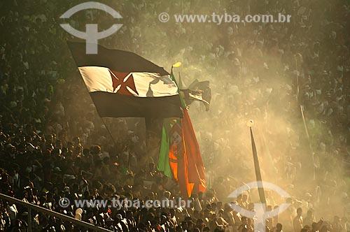Assunto: Torcida organizada Força Jovem do Vasco durante partida contra o Botafogo na final da Taça Guanabara  / Local: Rio de Janeiro (RJ) - Brasil / Data: 02/2010