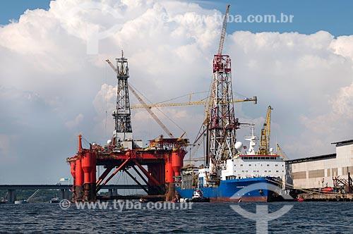 Assunto: Plataforma Borgny Dolphin no Estaleiro Mauá / Local: Rio de Janeiro  -   Rio de Janeiro (RJ)  -  Brasil  / Data: 02/2011