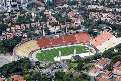 Assunto: Vista aérea do Estádio Pacaembu (Estádio Municipal Paulo Machado de Carvalho) / Local: São Paulo (SP) - Brasil / Data: 03/2011