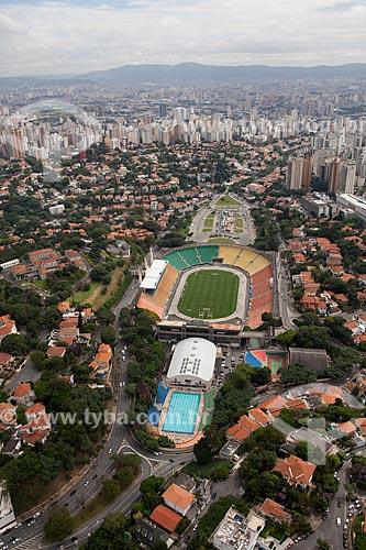 Assunto: Vista aérea do Estádio Pacaembu (Estádio Municipal Paulo Machado de Carvalho / Local: São Paulo (SP) - Brasil / Data: 03/2011