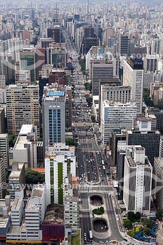 Assunto: Vista aérea da Avenida Paulista / Local: São Paulo (SP) - Brasil / Data: 03/2011