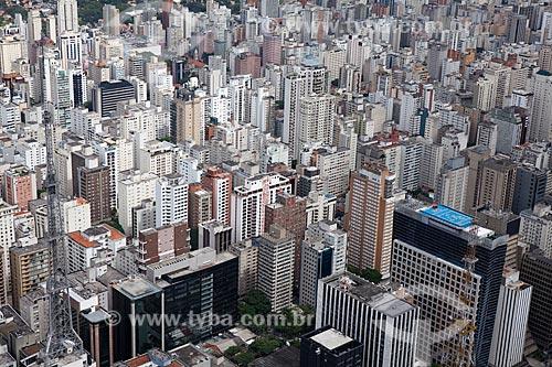 Assunto: Vista aérea  do centro de São Paulo / Local: São Paulo (SP) - Brasil / Data: 03/2011