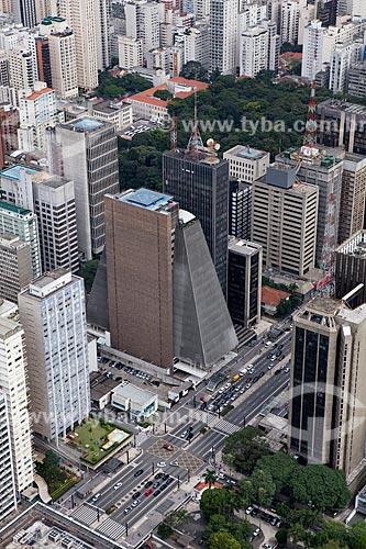 Assunto: Vista aérea da Avenida Paulista com destaque para o prédio da FIESP (Federação das Indústrias de São Paulo) / Local: São Paulo (SP) - Brasil / Data: 03/2011