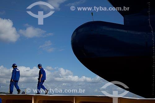 Assunto: Vista de proa de navio no Estaleiro Eisa / Local: Rio de Janeiro - RJ - Brasil  / Data: 05/2010