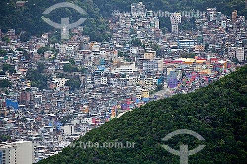 Assunto: Vista aérea da favela da Rocinha / Local: São Conrado - Rio de Janeiro (RJ) - Brasil  / Data: 03/2011