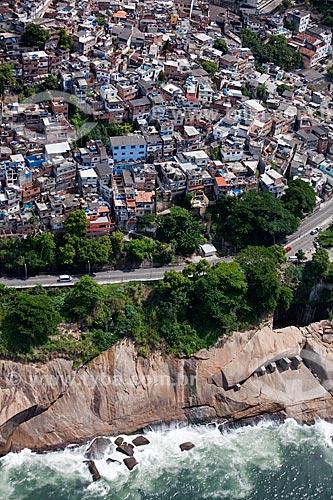 Assunto: Vista aérea da favela do Vidigal  / Local: São Conrado - Rio de Janeiro (RJ) - Brasil l  / Data: 03/2011