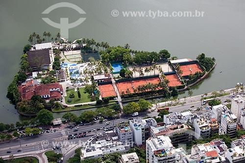 Assunto: Vista aérea do Clube dos Caiçaras / Local: Lagoa - Rio de Janeiro (RJ) - Brasil / Data: 03/2011