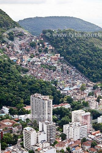 Assunto: Vista aérea do Morro Dona Marta e da Favela Santa Marta / Local: Botafogo - Rio de Janeiro (RJ) - Brasil / Data: 03/2011