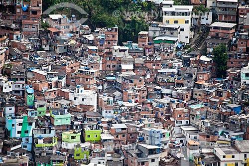 Assunto: Vista aérea da favela Santa Marta / Local: Botafogo - Rio de Janeiro (RJ) - Brasil / Data: 03/2011