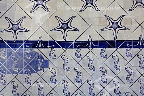 Assunto: Azulejos de Cândido Portinari formando painel decorativo no Palácio Gustavo Capanema (Antigo prédio do MEC)  / Local: Centro  -  Rio de Janeiro   -   RJ   -   Brasil / Data: 02/2011