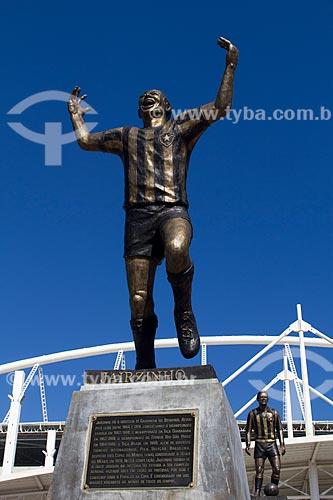 Assunto: Estátua de bronze do jogador Jairzinho na entrada do estádio Engenhão / Local: Engenho de Dentro - Rio de Janeiro (RJ) - Brasil / Data: 02/2011