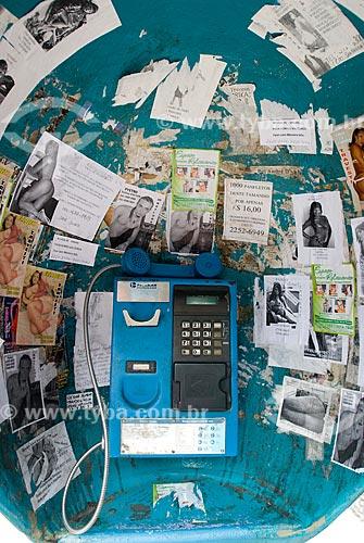 Assunto: Interior de orelhão na Avenida Presidente Vargas / Local: Centro - Rio de Janeiro (RJ) - Brasil  / Data: 12/2009