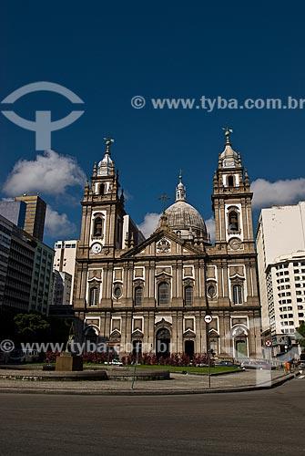 Assunto: Fachada da Igreja de Nossa Senhora Candelária / Local: Centro - Rio de Janeiro (RJ) - Brasil  / Data: 12/2009