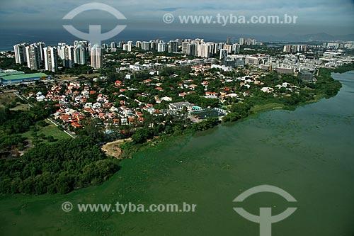 Assunto: Vista aérea da Lagoa da Tijuca e parte da Barra da Tijuca / Local: Rio de Janeiro - RJ - Brasil / Data: 02/2011