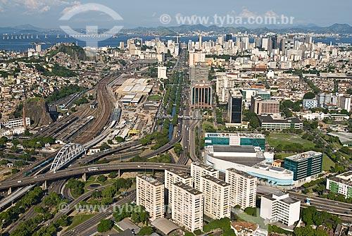 Assunto: Vista aérea do bairro Cidade Nova / Local: Centro - Rio de Janeiro (RJ) - Brasil  / Data: 12/2009