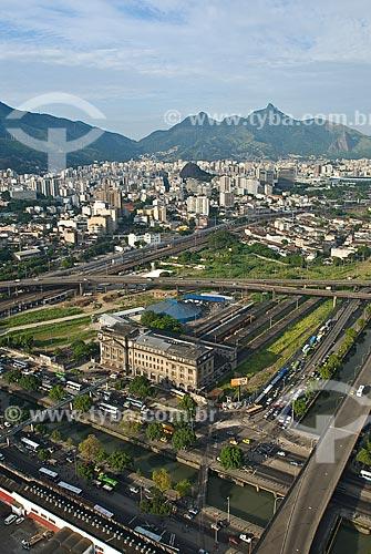 Assunto: Vista aérea da Estação Leopoldina / Local: Centro - Rio de Janeiro (RJ) - Brasil  / Data: 11/2009