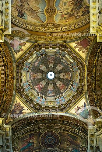 Assunto: Vista do teto da cúpula da Igreja de Nossa Senhora da Candelária / Local: Centro - Rio de Janeiro  (RJ) - Brasil  / Data: 12/2009