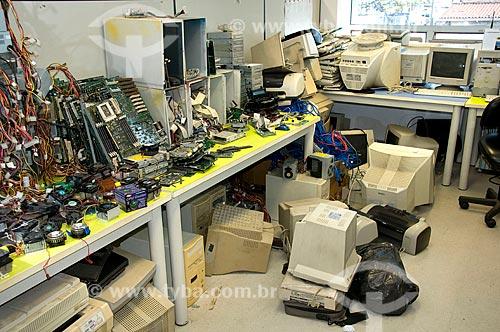 Assunto: Lixo eletrônico / Local: São Paulo (SP) - Brasil / Data: 03/2010