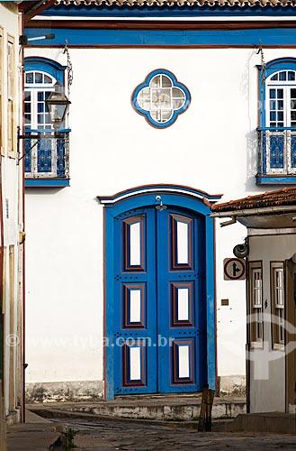 Assunto: Detalhe da fachada da Igreja de Nossa Senhora do Amparo / Local: Diamantina - Minas Gerais (MG) - Brasil / Data: 02/2008