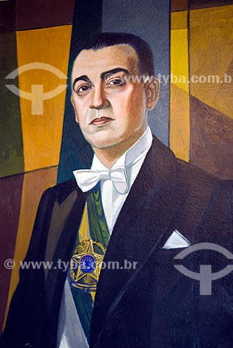 Assunto: Quadro pintado do Presidente Juscelino Kubitschek / Local: Diamantina - Minas Gerais (MG) - Brasil / Data: 02/2008