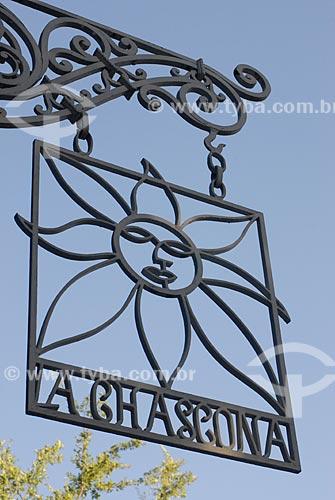 Assunto: Detalhe de placa na casa de Pablo Neruda - La Chascona / Local: Santiago - Chile - América do Sul / Data: 01/2011