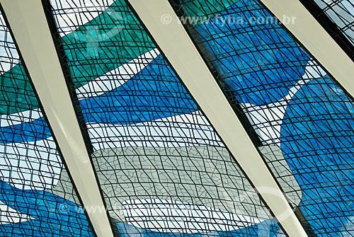 Assunto: Vista do interior da Catedral Metropolitana de Nossa Senhora Aparecida  (Catedral de Brasília) / Local: Brasília - Distrito Federal (DF) - Brasil / Data: 04/2010