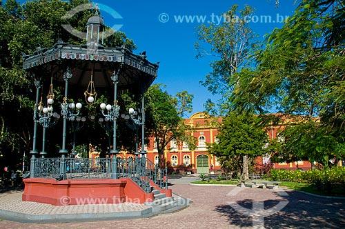 Assunto: Coreto e Palacete Provincial localizado na Praça Heliodóro Balbi - construído em 1861 / Local: Centro - Manaus - Amazonas (AM) - Brasil / Data: 06/2010