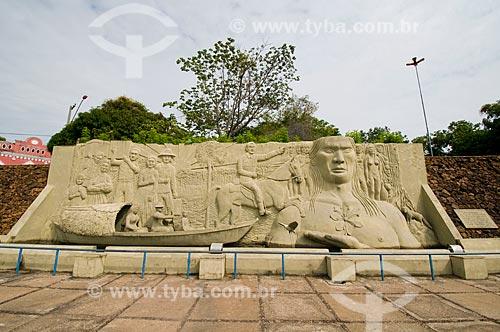 Assunto: Monumento aos pioneiros - Praça Barreto Leite / Local: Boa Vista - Roraima (RR) - Brasil / Data: 05/2010