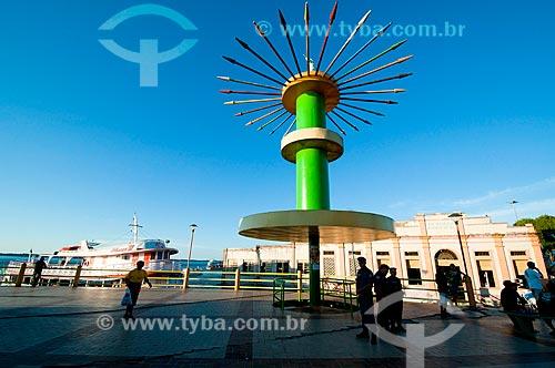 Assunto: Nova Praça do Cristo Redentor com Mercado Municipal de Parintins ao fundo / Local: Parintins - Amazonas (AM) - Brasil / Data: 06/2010
