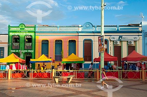 Assunto: Quiosques no centro histórico da cidade durante o Festival de Folclore / Local: Parintins - Amazonas (AM) - Brasil / Data: 06/2010