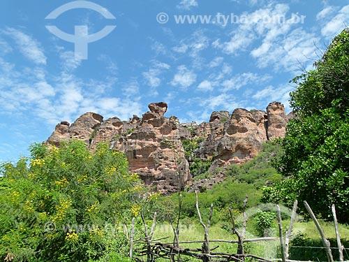 Assunto: Formação rochosa no Parque Nacional Serra da Capivara / Local: São Raimundo Nonato - Piauí (PI) - Brasil / Data: 03/2011