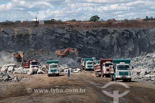 Assunto: Construção do reservatório Serra do Livramento - Projeto de Integração do Rio São Francisco com as bacias hidrográficas do Nordeste Setentrional  / Local: Salgueiro - Pernambuco (PE) - Brasil / Data: 08/2010