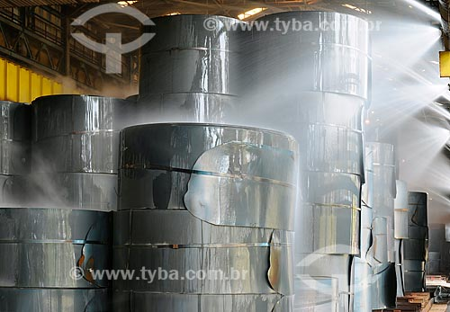 Assunto: Bobinas de aço na Companhia Siderúrgica Nacional (CSN) / Local: Volta Redonda - Rio de Janeiro (RJ) - Brasil / Data: 06/2008