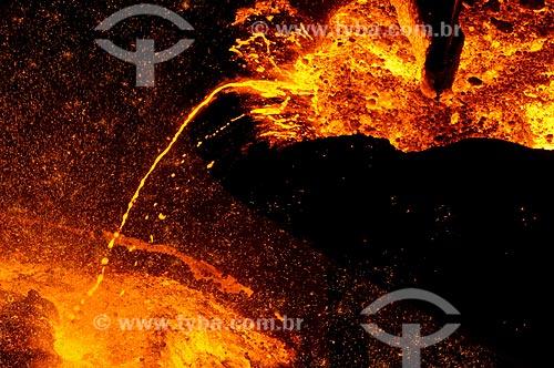 Assunto: Ferro fundido na Companhia Siderúrgica Nacional (CSN) / Local: Volta Redonda - Rio de Janeiro (RJ) - Brasil / Data: 06/2008