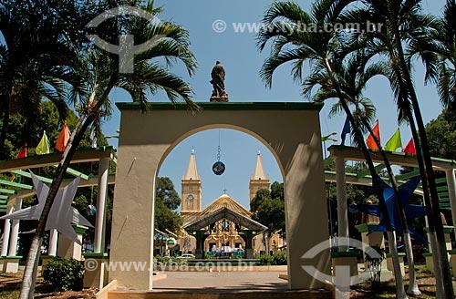 Assunto: Praça da Sé com Igreja Matriz Nossa Senhora da Penha ao fundo / Local: Crato - Ceará (CE) - Brasil / Data: 08/2010