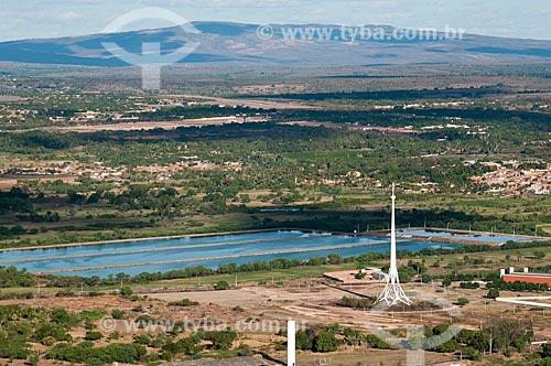 Assunto: Vista da estação de tratamento de efluentes à partir do morro do Horto / Local: Juazeiro do Norte - Ceará (CE) - Brasil / Data: 08/2010