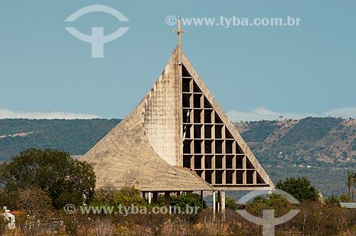 Assunto: Igreja Bom Jesus do Horto - Morro do Horto - Chapada do Araripe ao fundo / Local: Juazeiro do Norte - Ceará (CE) - Brasil / Data: 08/2010