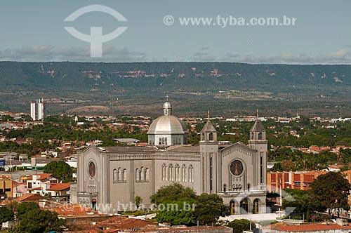 Assunto: Santuário do Sagrado Coração de Jesus - Chapada do Araripe ao fundo / Local: Juazeiro do Norte - Ceará (CE) - Brasil / Data: 08/2010