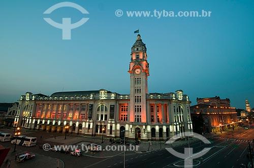 Assunto: Fachada iluminada da Sala São Paulo - Sede da Orquestra Sinfônica do Estado de São Paulo / Local: São Paulo  (SP) - Brasil / Data: 09/2010