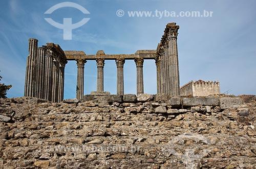 Assunto: Templo de Diana - Templo Romano do século I  / Local: Évora - Portugal - Europa / Data: 10/2010