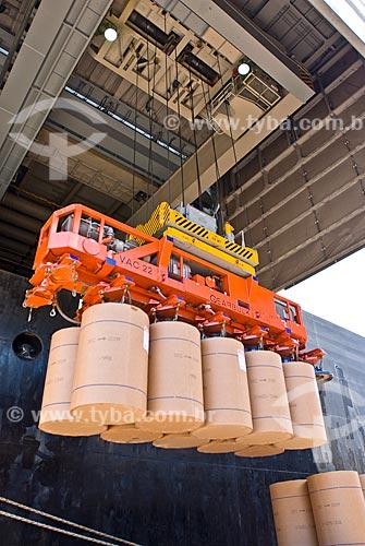 Assunto: Navio descarregando papel no Porto do Rio Grande / Local: Rio Grande - Rio Grande do Sul (RS) - Brasil / Data: 01/2009