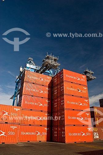 Assunto: Terminal de containeres no Porto do Rio Grande / Local: Rio Grande - Rio Grande do Sul (RS) - Brasil / Data: 01/2009