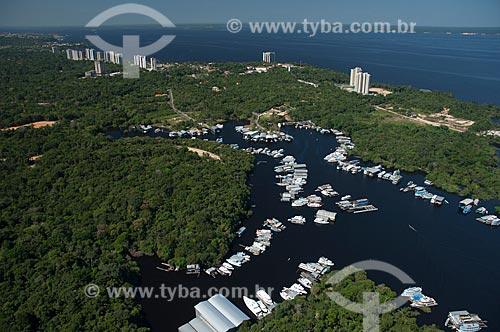 Assunto: Vista aérea de Ponta Negra e do  Igarapé Tarumã / Local: Manaus - Amazonas (AM) - Brasil / Data: 06/2007