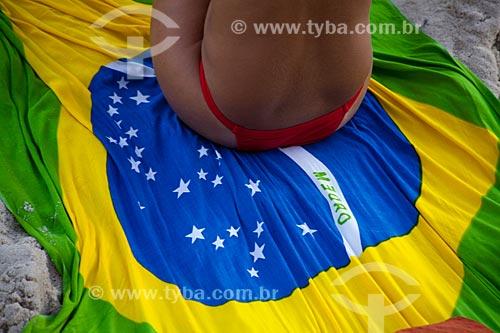 Assunto: Mulher se bronzeando na Praia de Ipanema / Local: Ipanema - Rio de Janeiro (RJ) - Brasil / Data: 04/2011
