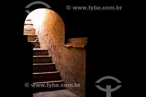 Assunto: Escadaria para a catacumba da Igreja de San José (Iglesia de San José) / Local: Nasca - Departamento de Ica - Peru - América do Sul / Data: 16/05/2011