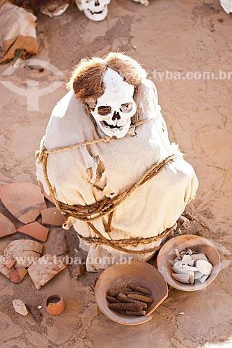 Assunto: Múmias no Cemitério de Chauchilla (Cementerio de Chauchilla), descobertas na década de 1920 / Local: Nasca - Departamento de Ica - Peru - América do Sul / Data: 17/05/2011
