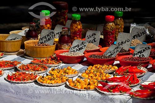 Assunto: Pimentas à venda em feira livre / Local: Copacabana - Rio de Janeiro (RJ) - Brasil / Data: 02/2011